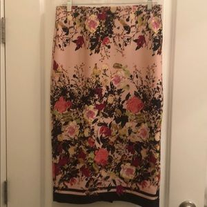Pink Floral ECI Pencil Skirt